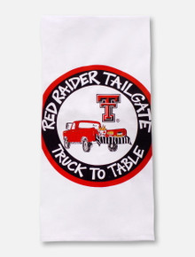 "Magnolia Lane Texas Tech Red Raiders  ""Truck to Table"" Tea Towel"