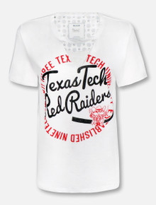"Pressbox Texas Tech Red Raiders ""Saylor"" Cutout Choker T-Shirt"