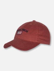 Legacy Texas Tech Red Raiders Arch over American Flag Adjustable Cap
