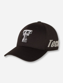 Top of the World Texas Tech Double T on Black Stretch Fit Cap