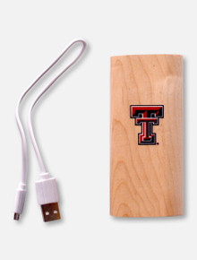 Texas Tech Red Raiders 4000mAh Wood Power Bank