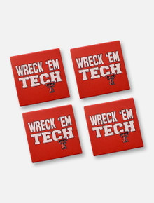 Texas Tech Red Raiders Texas Tech 4 Pack of Wreck 'Em Tech Square Coasters
