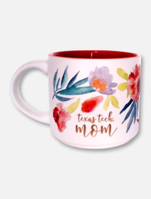 Texas Tech Red Raiders Texas Tech Floral Watercolor Mom Matte Coffee Mug