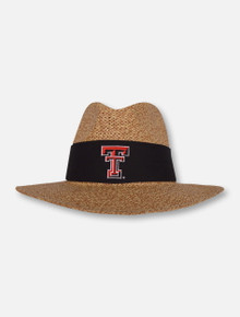 """LogoFit Texas Tech Red Raiders """"Angler"""" Twisted Straw Hat"""
