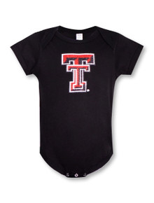 Summit Texas Tech Red Raiders Glitter Double T INFANT Onesie