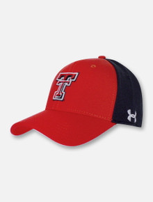 Under Armour Texas Tech Red Raiders Red Bill Double T Two Tone Cap (L/XL)