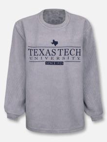 "Pressbox Texas Tech Red Raiders ""Bar School"" Corduroy Long Sleeve Tee"