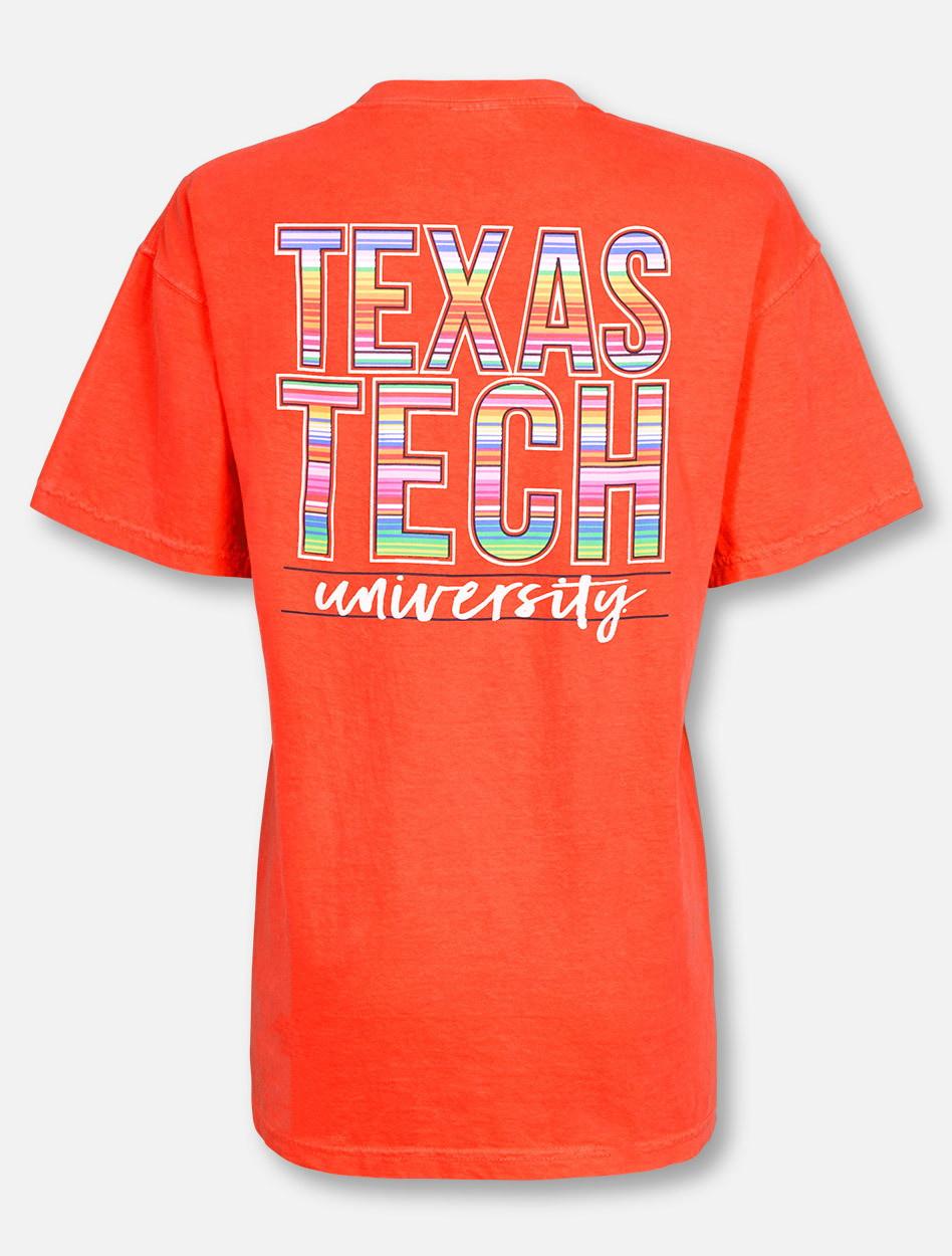 19a8d77f2 Texas Tech Red Raiders Baja Blanket Stack on Neon Orange T-Shirt