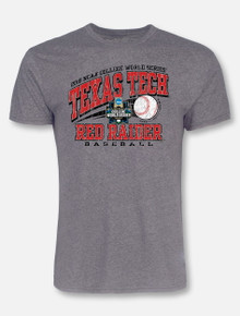 "Texas Tech Baseball ""Go Yard"" 2018 CWS Grey T-shirt"