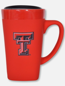 Texas Tech Red Raiders Soft Touch Ceramic Mug Red Travel Mug