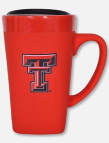 Texas Tech Red Raiders Soft Touch Ceramic Mug Red Travel Mug