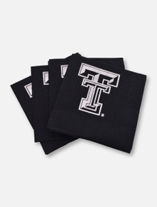 Texas Tech Red Raiders Metallic Silver Double T 3-Ply Napkins