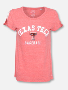 League Texas Tech Red Raiders Baseball Cold Shoulder T-Shirt