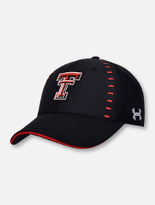 Under Armour Texas Tech Red Raiders Sideline Men s Blitzing 3.0 Accent Stretch  Fit Cap fab25f63083