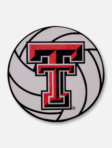 Texas Tech Red Raiders Double T Volleyball Decal