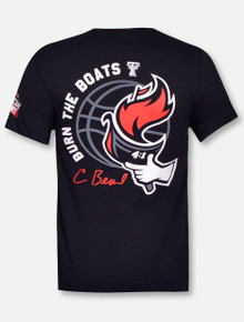 "Texas Tech Red Raiders Basketball Wreck'em ""Burn The Boats""  T-Shirt"