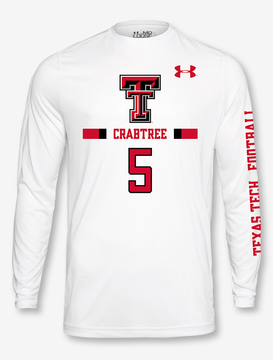 check out 73412 00e1b Under Armour Texas Tech NFL Crabtree Longsleeve Tee
