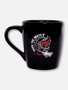 "Texas Tech Red Raiders ""Burn the Boats"" Chris Beard Black Basketball Coffee Mug"