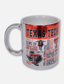 Texas Tech Red Raiders Word and Logo Wrapped Metallic Cafe Mug