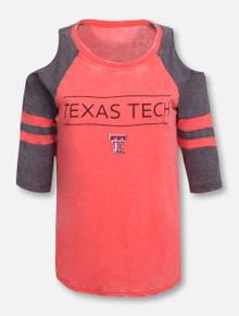 "Pressbox Texas Tech Red Raiders ""Evan"" Cold Shoulder T-Shirt"
