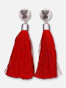 Emerson Street Texas Tech Red Raiders Tassle Earrings
