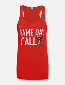 """ZooZatz Texas Tech Red Raiders """"It's Game Day Y'all"""" Tank Top"""