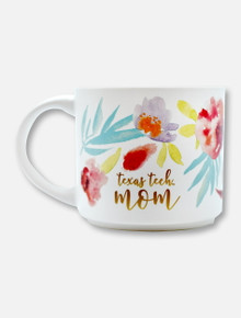 Texas Tech Red Raiders Mom Watercolor Floral Coffee Mug