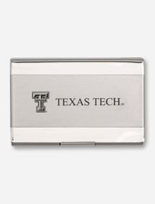 Texas Tech on Silver Business Card Holder