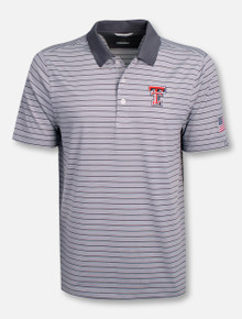 "Cutter & Buck Texas Tech Red Raiders ""Surge Stripe"" Polo"