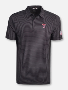 "Cutter & Buck Texas Tech Red Raiders ""Prevail"" Stripe Polo"