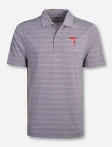 "Cutter & Buck Texas Tech Red Raiders ""Interbay"" Melange Stripe Polo"
