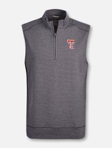 "Cutter & Buck Tech Red Raiders ""Shoreline"" 1/2 Zip Vest"
