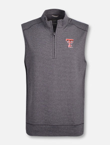 "Cutter & Buck Tech Red Raiders ""Shoreline"" 1/2 Zip Vest"