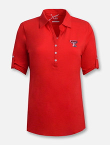"""Cutter and Buck Texas Tech Red Raiders """"Thrive"""" 3/4 Sleeve Polo"""