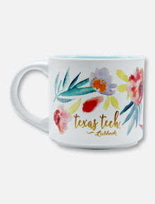 Texas Tech Red Raiders Floral Watercolor Matte Coffee Mug