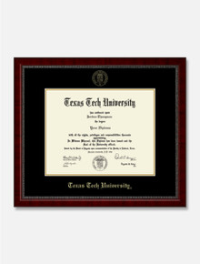 Texas Tech Red Raiders Gold Embossed Diploma Frame in Signature with Black and Gold Mats C6