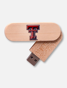 Texas Tech Red Raider Texas Tech 16GB Wood Twist USB Drive