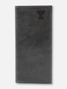 Texas Tech Red Raiders Grey Leather Roper with Double T Wallet