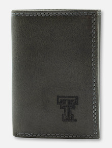 Texas Tech Red Raiders Grey Leather Tri-Fold with Double T Wallet