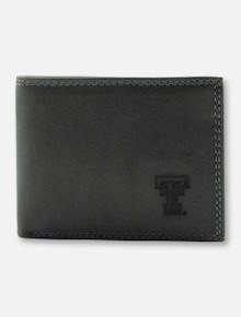 Texas Tech Red Raiders Grey Leather Bi-Fold with Double T Wallet