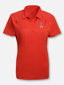 "Under Armour Texas Tech 2018 ""Sideline"" Women's Red Polo"