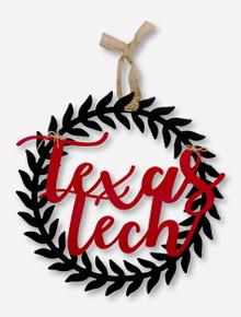Texas Tech Red Raiders Script Wreath Wall Decor