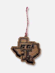 Texas Tech Red Raiders Pride Logo Wooden Ornament
