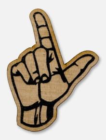 Texas Tech Red Raiders Guns Up Logo Wooden Magnet