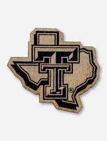Texas Tech Red Raiders Texas Tech Pride Logo Wooden Magnet
