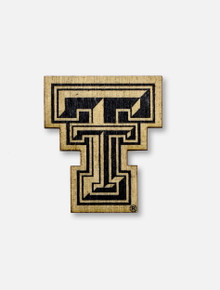 Texas Tech Red Raiders Double T Wooden Magnet