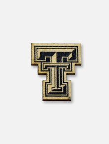 Texas Tech Red Raiders Double T Wooden Lapel Pin