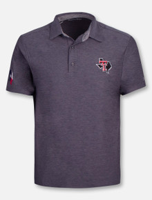 5764ee2d Under Armour Texas Tech Red Raiders Playoff Tonal Heather Pride Polo