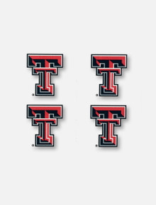 Texas Tech Red Raiders Double T 4 Pack Face Tattoos