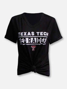 Texas Tech Red Raiders Knotted Juke Fashion Top T-Shirt